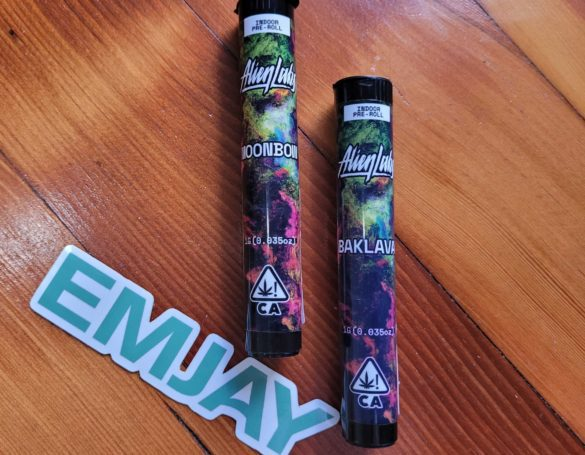 Alien Labs Baklava and Moonbow Preroll_ Emjay review